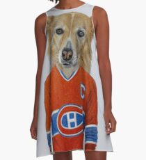 dog in sportwear A-Line Dress