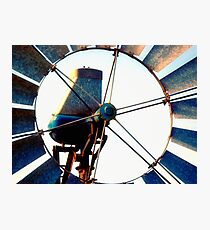 Outback Windmill Photographic Print