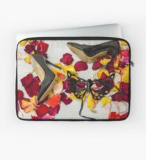 After masquerade - shoes, mask and rose petals Laptop Sleeve