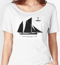 Trawler ketch-rigged 1887 by Tony Fernandes Women's Relaxed Fit T-Shirt