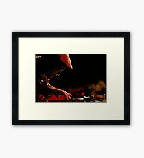 In dimly lit rooms it gets hot Framed Print