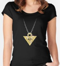 Yu-Gi-Oh! Millennium Puzzle Women's Fitted Scoop T-Shirt