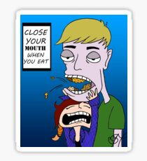 CLOSE YOUR MOUTH Sticker
