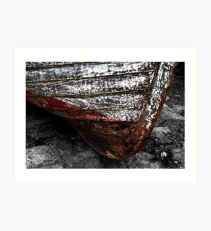 Chipped Paintwork, Old Boat, Cornwall Art Print