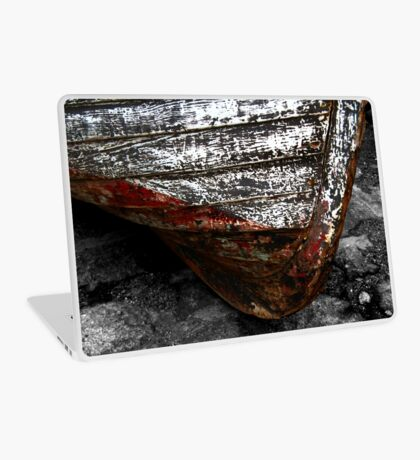 Chipped Paintwork, Old Boat, Cornwall Laptop Skin