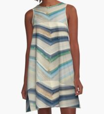 Blue chevrons A-Line Dress