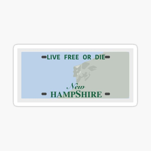 NH License Plate (Blank) Sticker