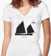 Yawl 1890 by Tony Fernandes Women's Fitted V-Neck T-Shirt