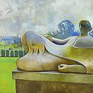 Henry Moore in Dartington Hall by Bernard Barnes