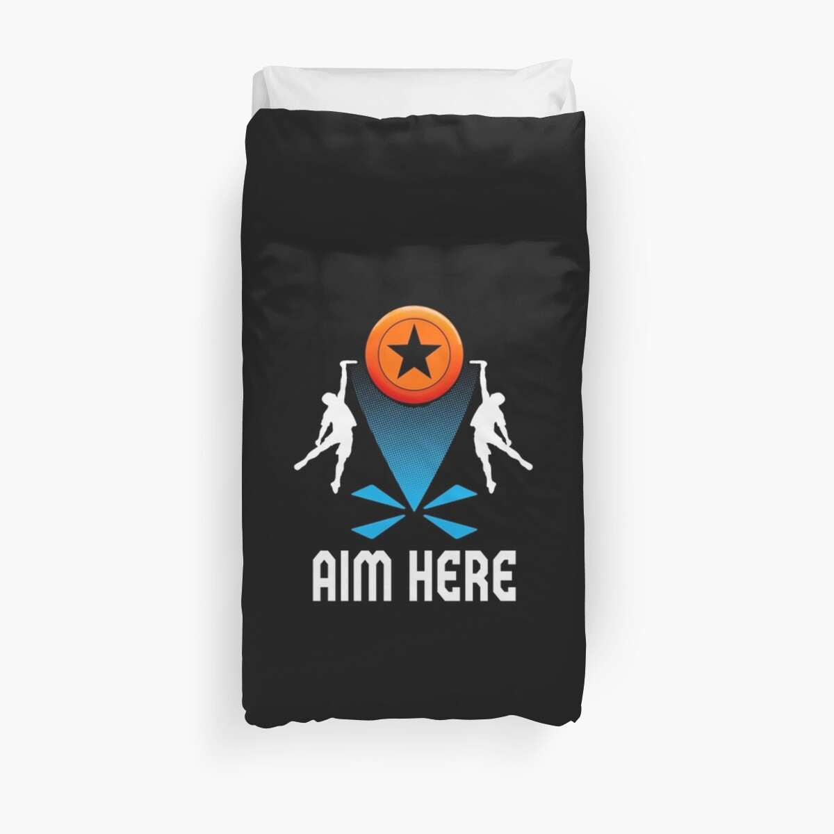 ultimate frisbee disc golf aim here funny gifts duvet covers by
