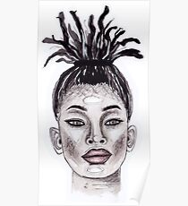 Willow Smith watercolour painting Poster
