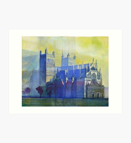 Exeter Cathedral, Devon Art Print
