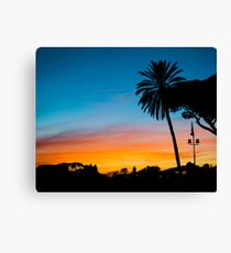 Sunset in Rome Canvas Print