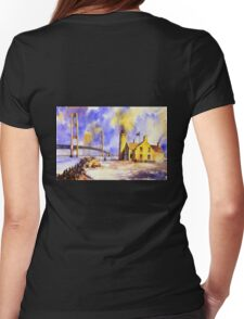 Mackinac Island- Lake Michigan.  Watercolor painting Womens Fitted T-Shirt