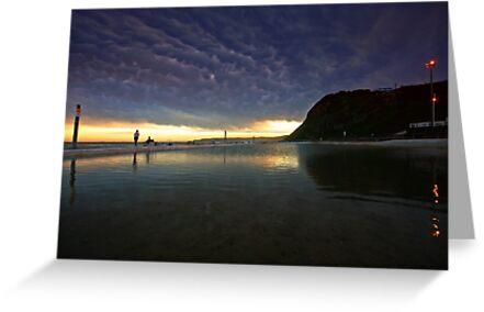 Merewether Ocean Baths at Dusk by Mark Snelson