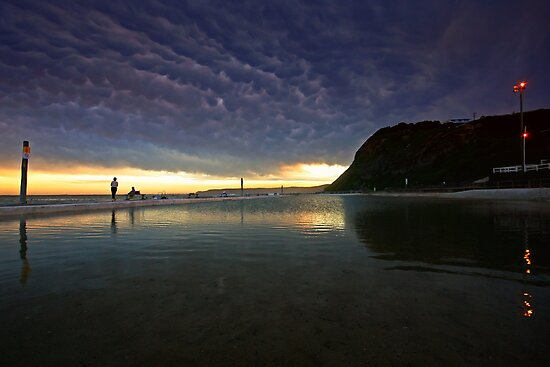Merewether Ocean Baths at Dusk by Mark Snelson
