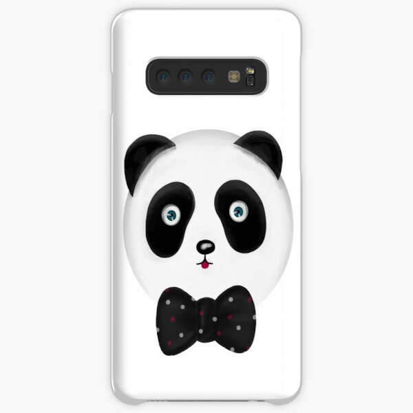 Cute panda with polka dot bowtie Samsung Galaxy Snap Case