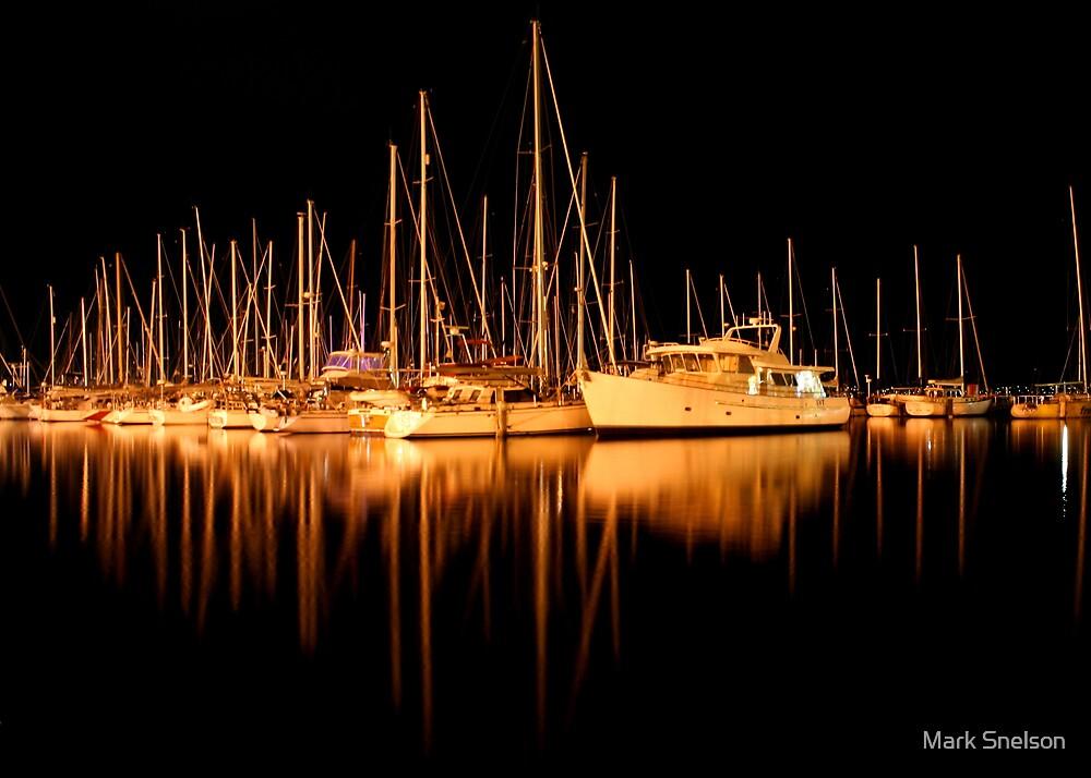 Yachts in Sandy Bay by Mark Snelson