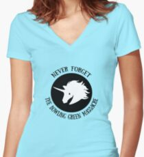 Never Forget: The Bowling Green Massacre Women's Fitted V-Neck T-Shirt