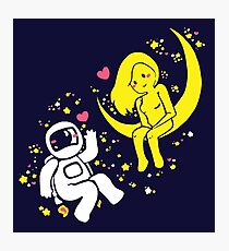 Outer Space Romance Photographic Print