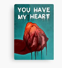 Monster Love - I Give You My bl**dy Heart Metal Print