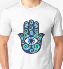 Blue Hamsa Hand  Unisex T-Shirt