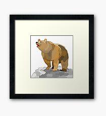 Geometric bear Framed Print