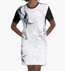 Your Brain on Surrealism Graphic T-Shirt Dress