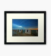 Merewether Ocean Baths at Dusk 3 Framed Print