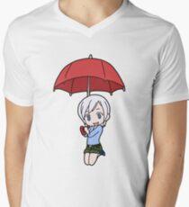 Tenrou Lisanna T-Shirt mit V-Ausschnitt