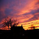 SUNSET OVER MY HOUSE by leonie7