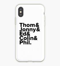 Radiohead Names (Black) iPhone Case