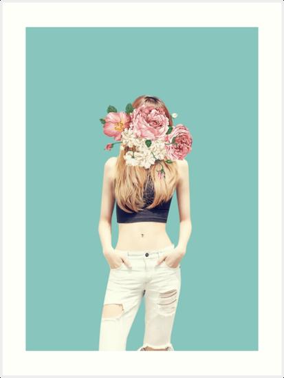 Blackpink Lisa Flower Aesthetic Art Prints By Laurenbennett Redbubble