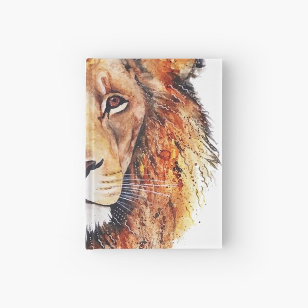 Orange Lion Hardcover Journal