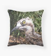 Stone Curlew Throw Pillow