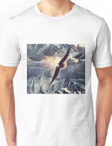 An Eagle Flying High Above the Mountains Unisex T-Shirt