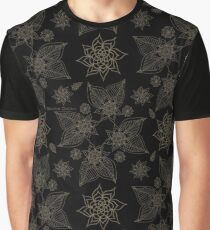 Gilded Roses Black Graphic T-Shirt