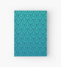 Mermaid Scales Turquoise to Teal Ombre Hardcover Journal