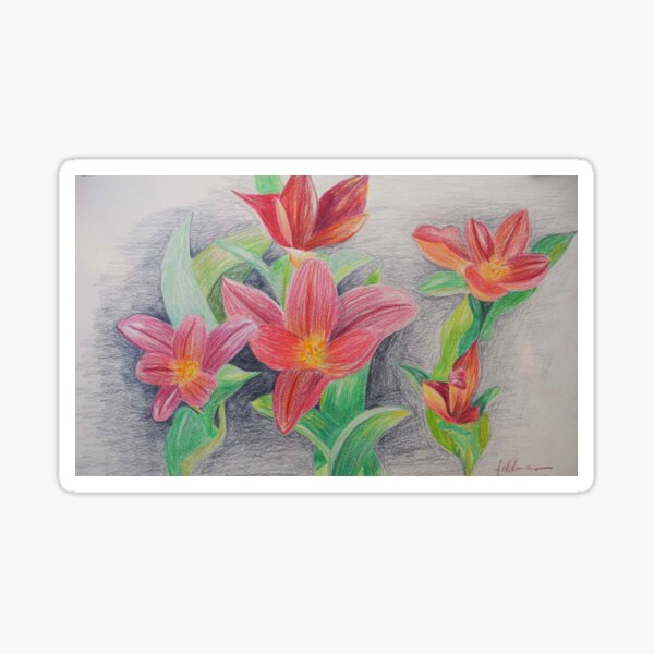 SMALL TULIPS -  SPRINGTIME - PENS Sticker