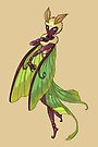 Luna Moth Girl MONSTER GIRLS Series I by angelasasser
