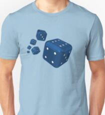 Throw the blue dices Unisex T-Shirt