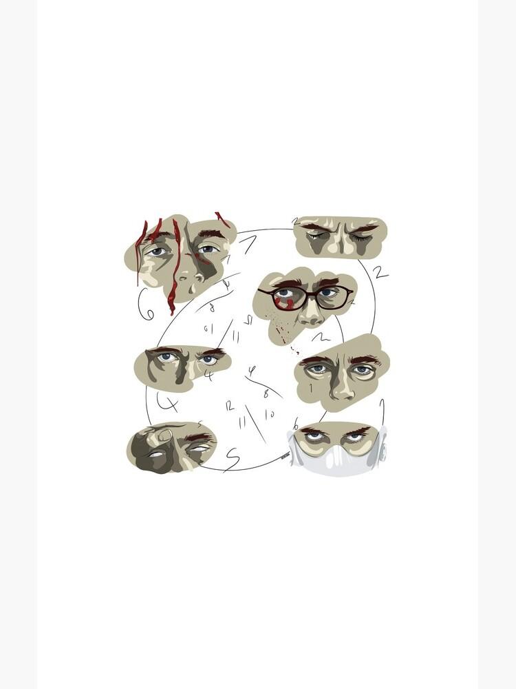 Will Graham's Eyes Hannibal Pattern by ladykraken