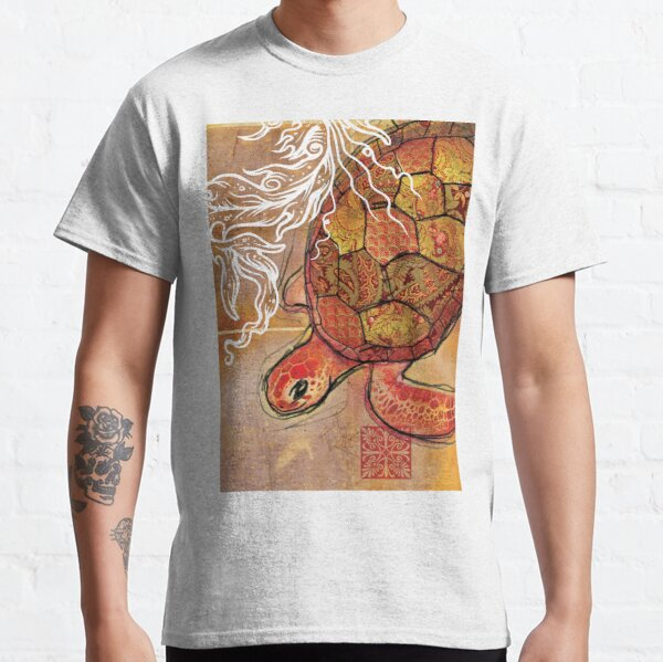baby sea turtle- mixed media Classic T-Shirt