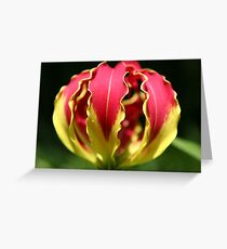 Flame Lily Fist Greeting Card