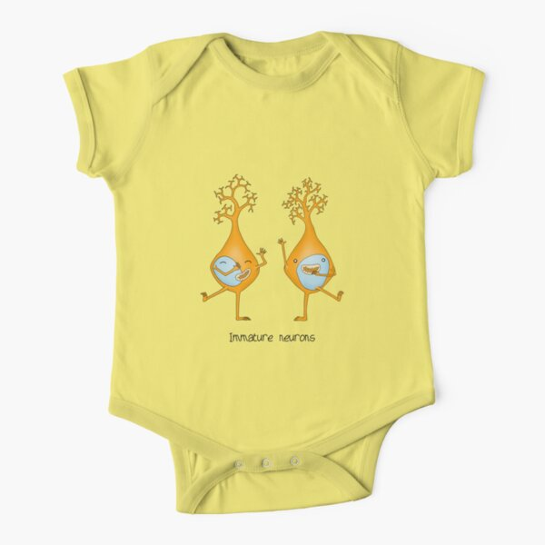 Immature Neurons Short Sleeve Baby One-Piece