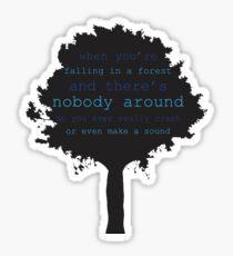 Falling in a Forest Sticker