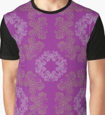 Gilded Butterflies Violet Magenta Graphic T-Shirt