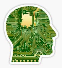 Computer Brain Sticker