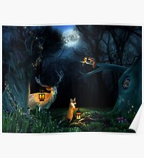 Magic Forest Wildlife Poster
