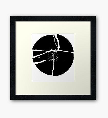 Broken Record Framed Print